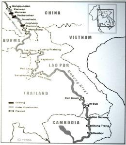 Karte der Staudammprojekte - auf die Rückseite von Ansichtskarten gedruckt, damit es jeder erfährt