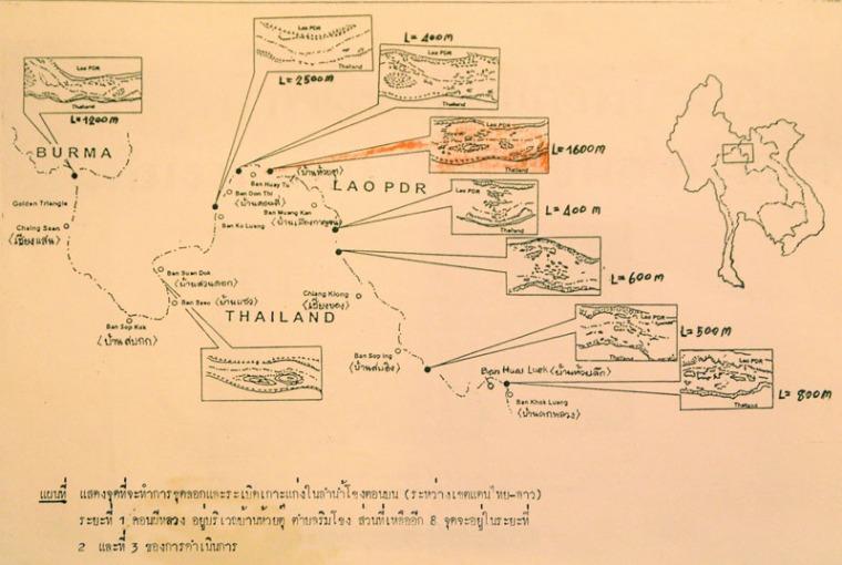 Felssprengprojekte zwischen Chiang Saen und Chiang Khong