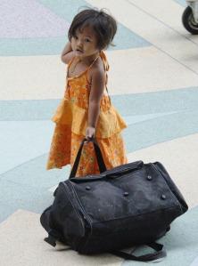Endlich da ... und wer hilft mir mit dem Gepäck?