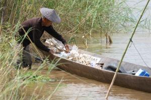Noch gibt es hartnäckige Fischer am Mekong