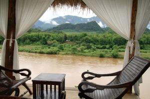 Entspannen im Ökotal des Nam Khan Flusses