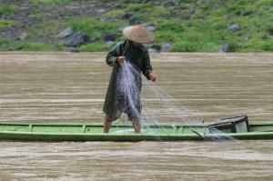 Unsichere Zukunft fuer die vielen Fischer am Mekong