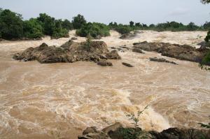 Li Phi Wasserfall des Mekong in Siphandon, Laos