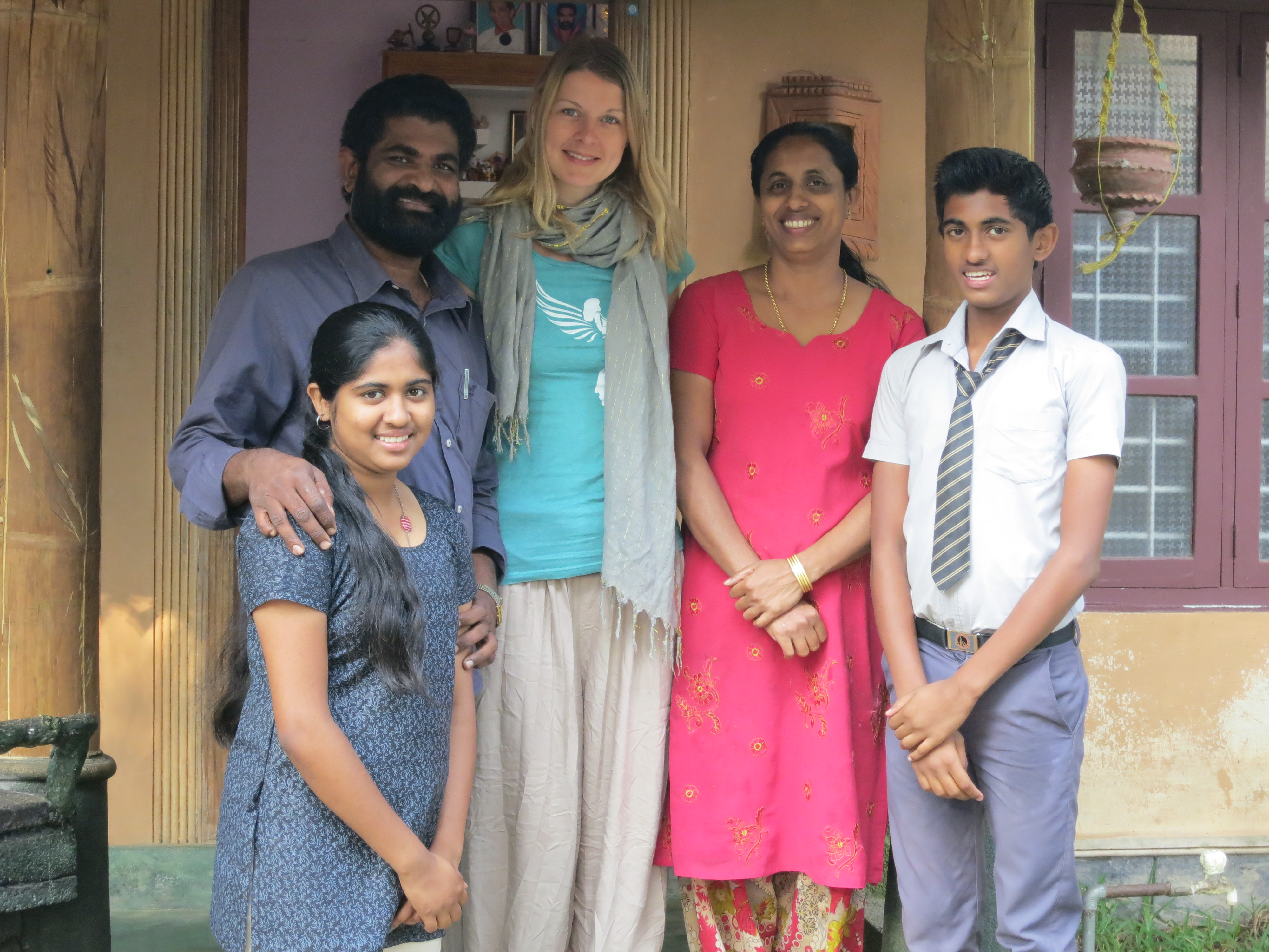 Young Woman Traveling Alone Europe Homestay In Kerala
