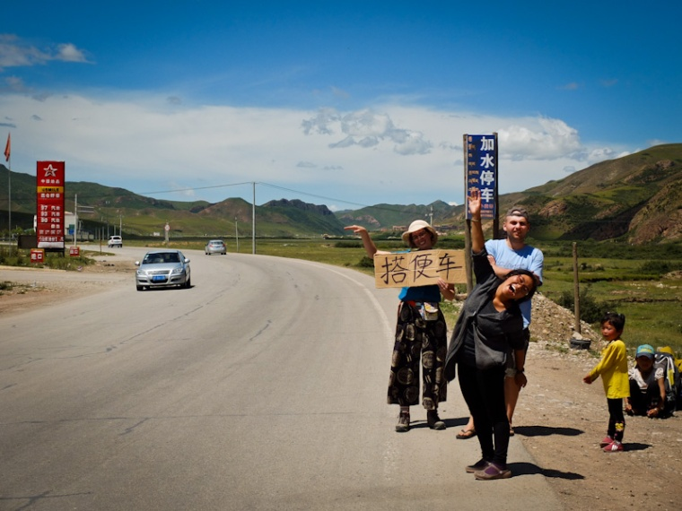Hichchiking as well as getting off the beaten track are great ways to get to know the place you're visitting. And they're so much fun! Ngawa Tibetan and Qiang Autonomous Prefecture, Sichuan, China